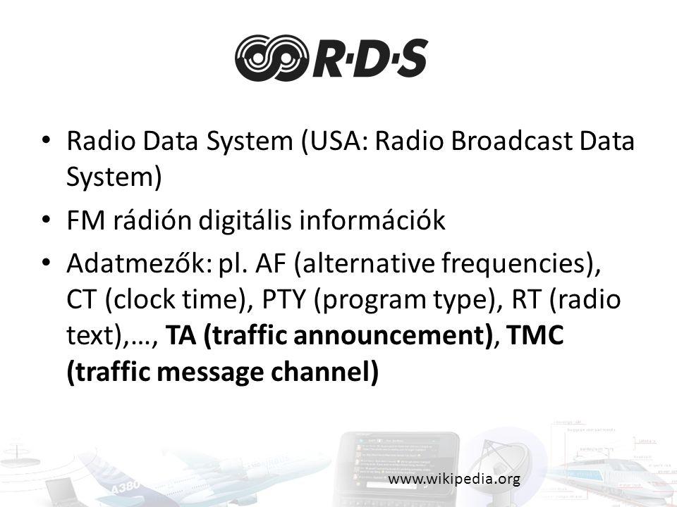 Radio Data System (USA: Radio Broadcast Data System)