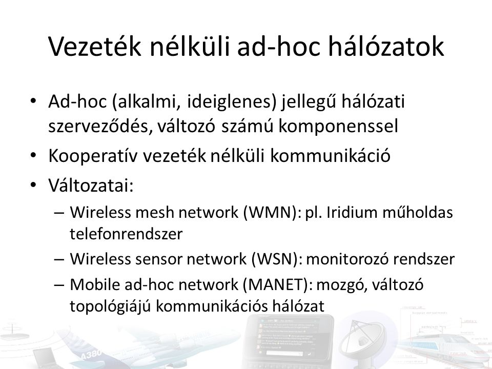 Vezeték nélküli ad-hoc hálózatok