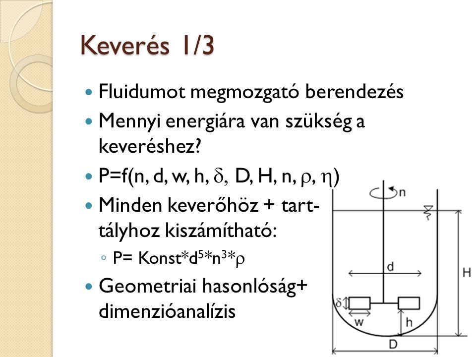 Keverés 1/3 Fluidumot megmozgató berendezés