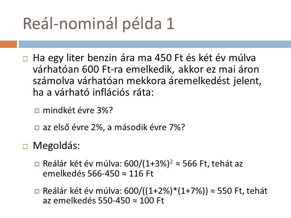Reál-nominál példa 1