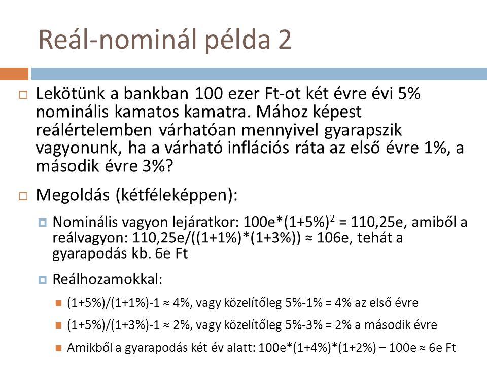 Reál-nominál példa 2