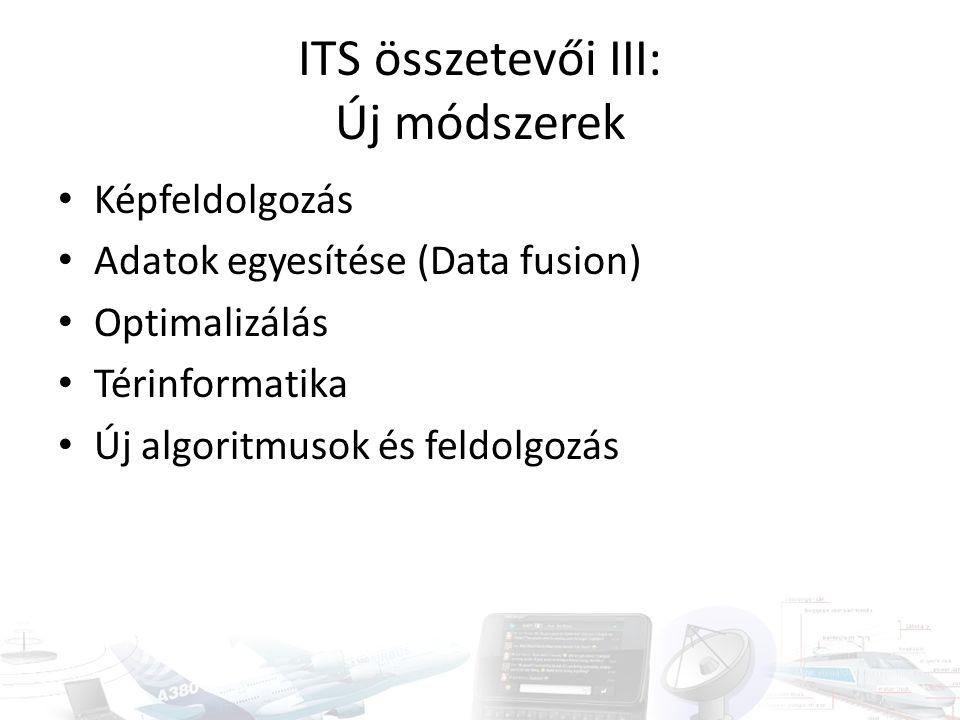 ITS összetevői III: Új módszerek