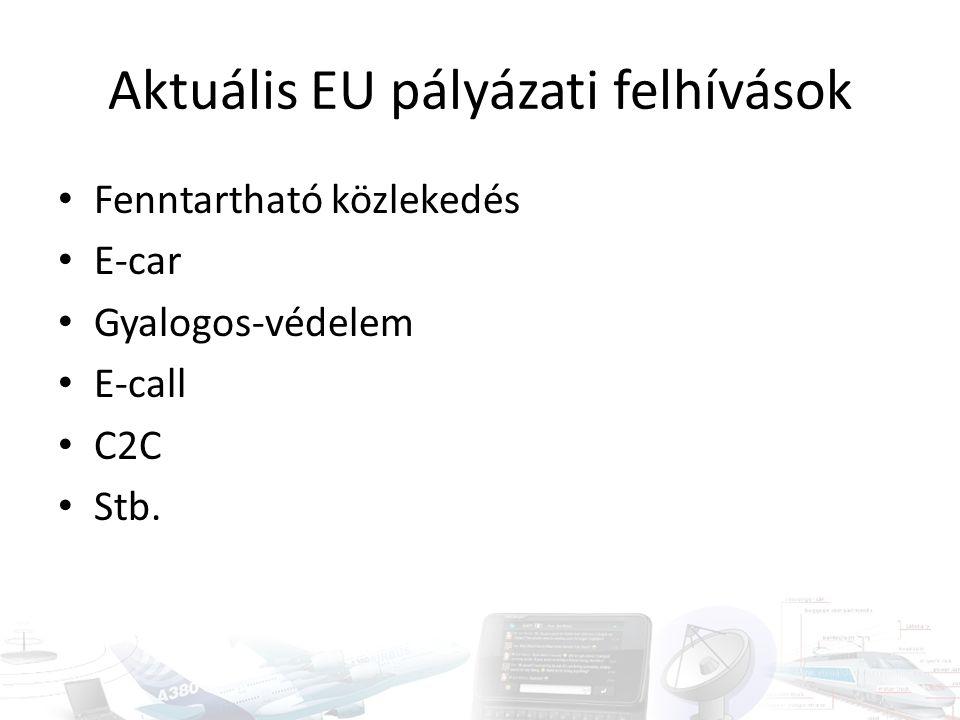 Aktuális EU pályázati felhívások