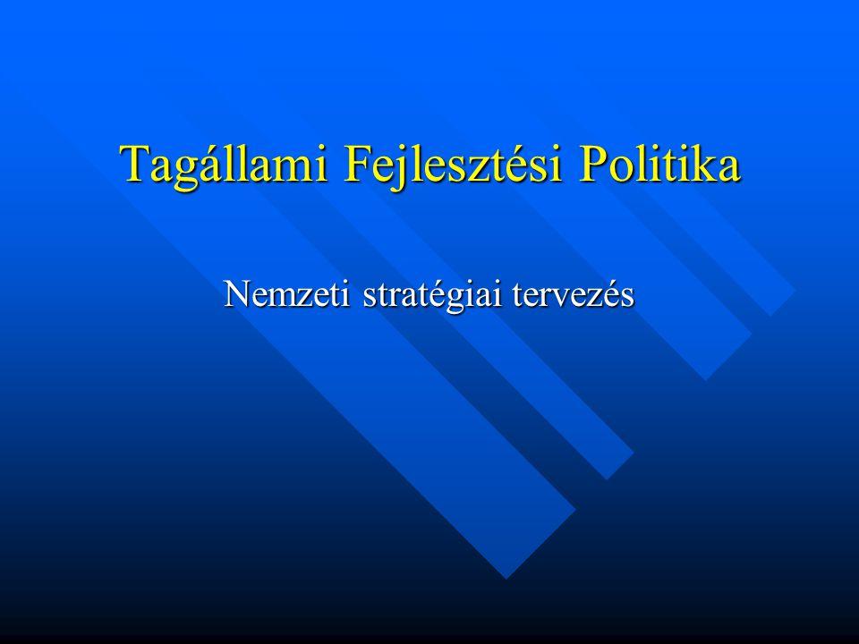 Tagállami Fejlesztési Politika
