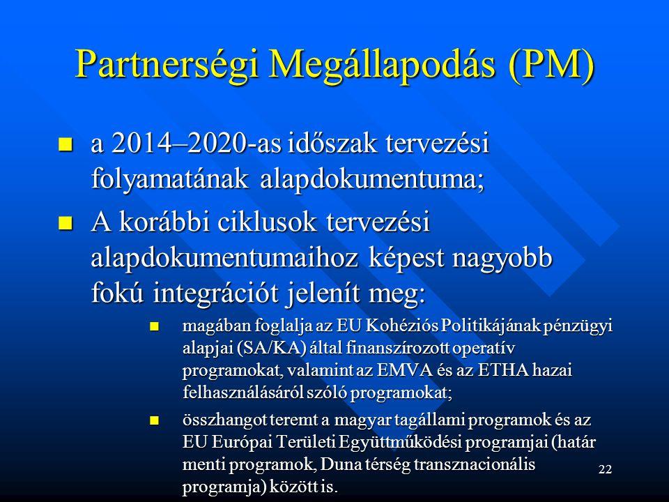 Partnerségi Megállapodás (PM)