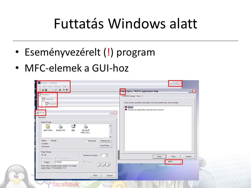 Futtatás Windows alatt