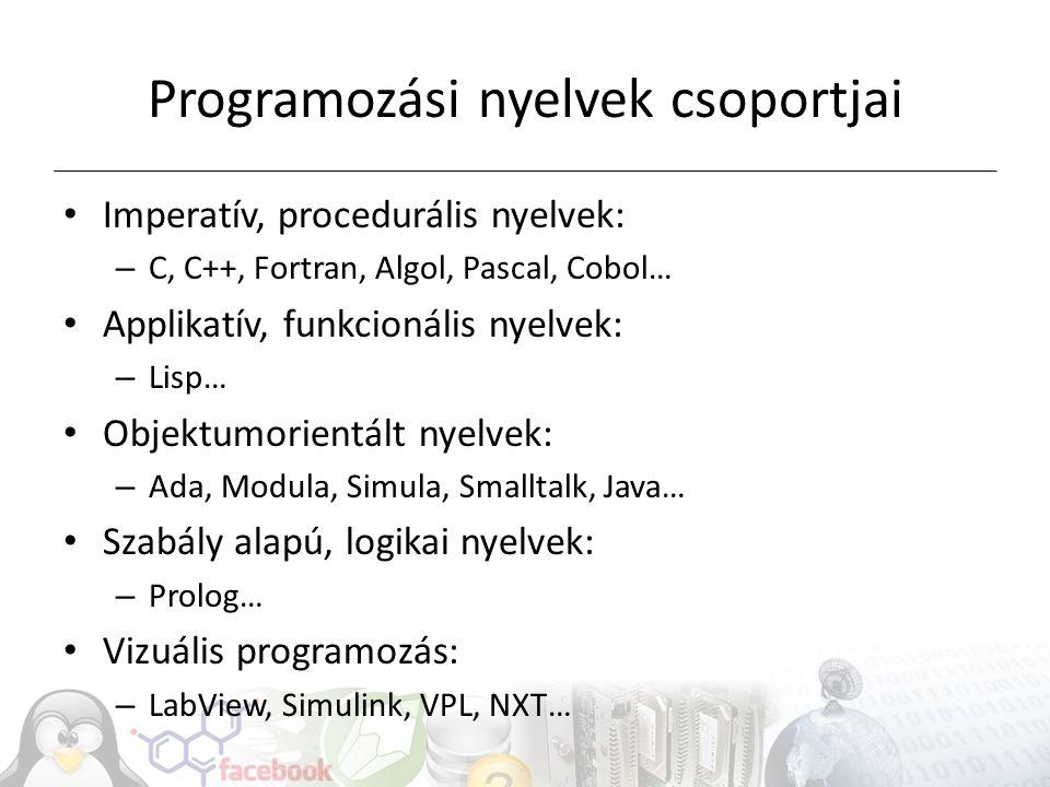 Programozási nyelvek csoportjai