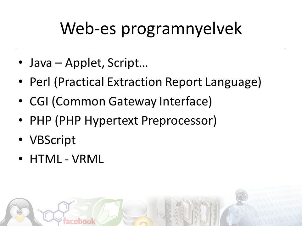 Web-es programnyelvek