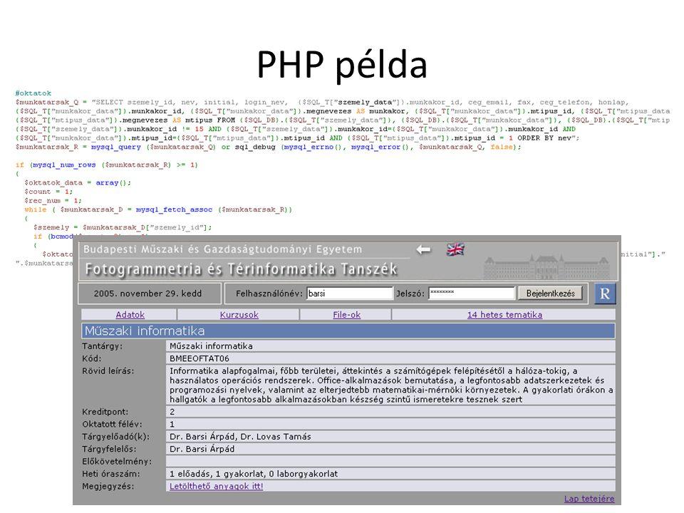 PHP példa