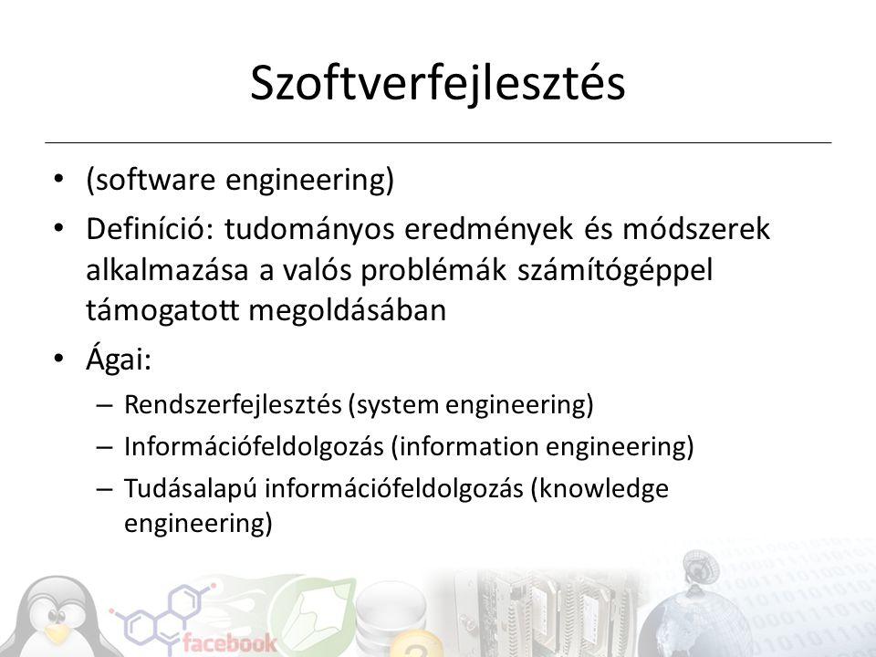 Szoftverfejlesztés (software engineering)