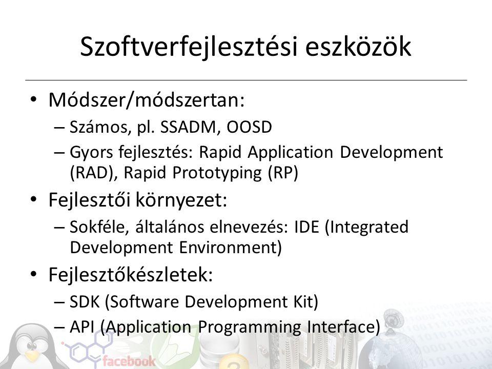 Szoftverfejlesztési eszközök