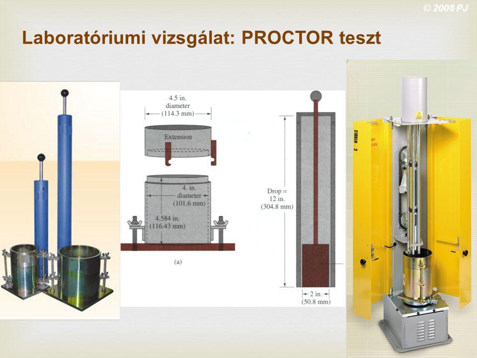 Laboratóriumi vizsgálat: PROCTOR teszt