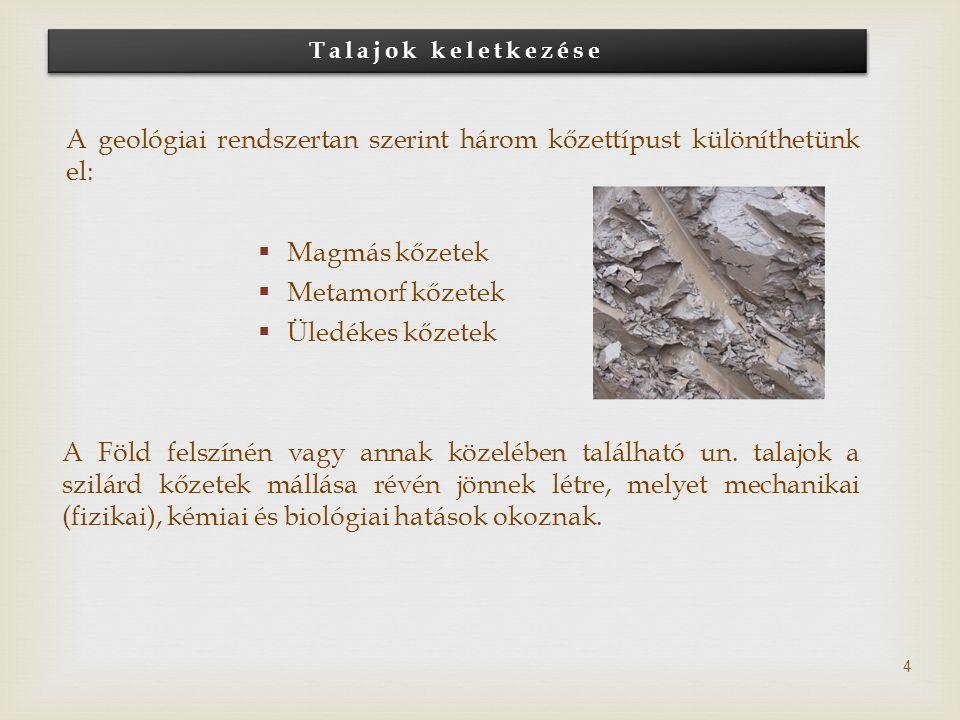 A geológiai rendszertan szerint három kőzettípust különíthetünk el: