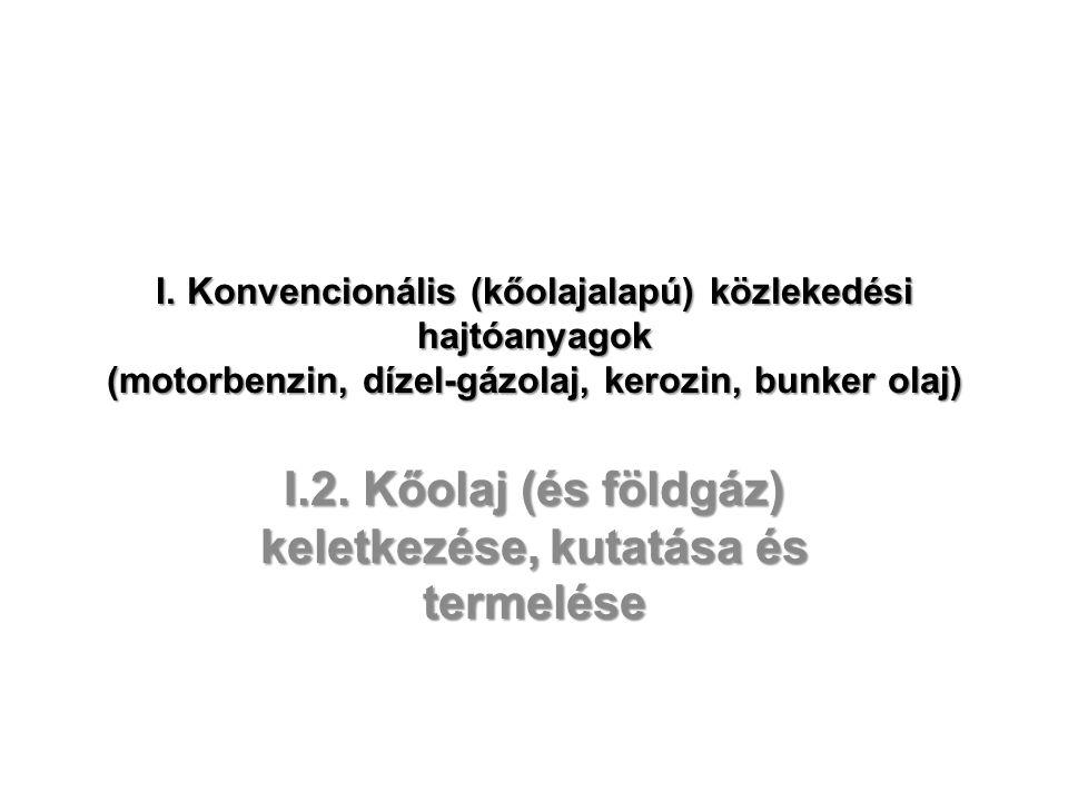 I.2. Kőolaj (és földgáz) keletkezése, kutatása és termelése
