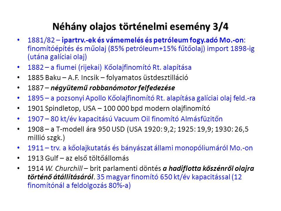 Néhány olajos történelmi esemény 3/4