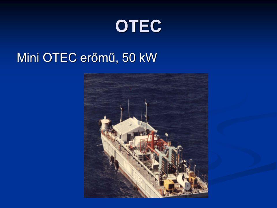 OTEC Mini OTEC erőmű, 50 kW