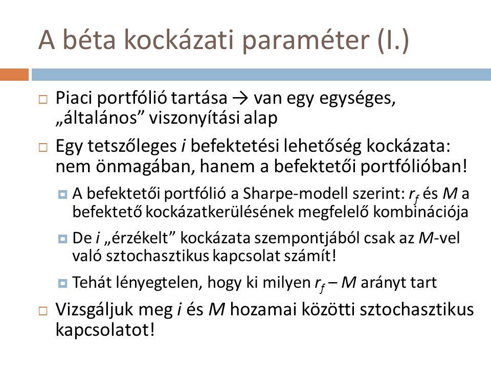 A béta kockázati paraméter (I.)