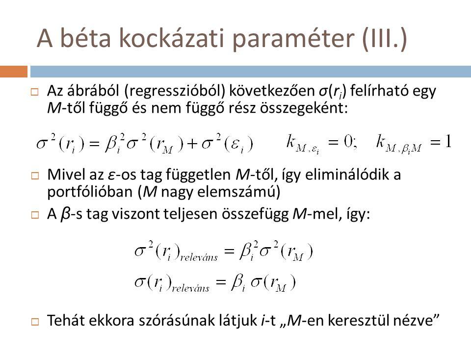 A béta kockázati paraméter (III.)