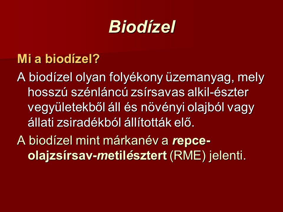 Biodízel Mi a biodízel