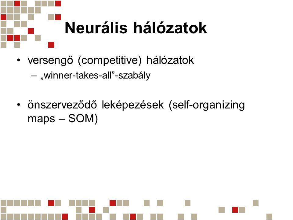 Neurális hálózatok versengő (competitive) hálózatok