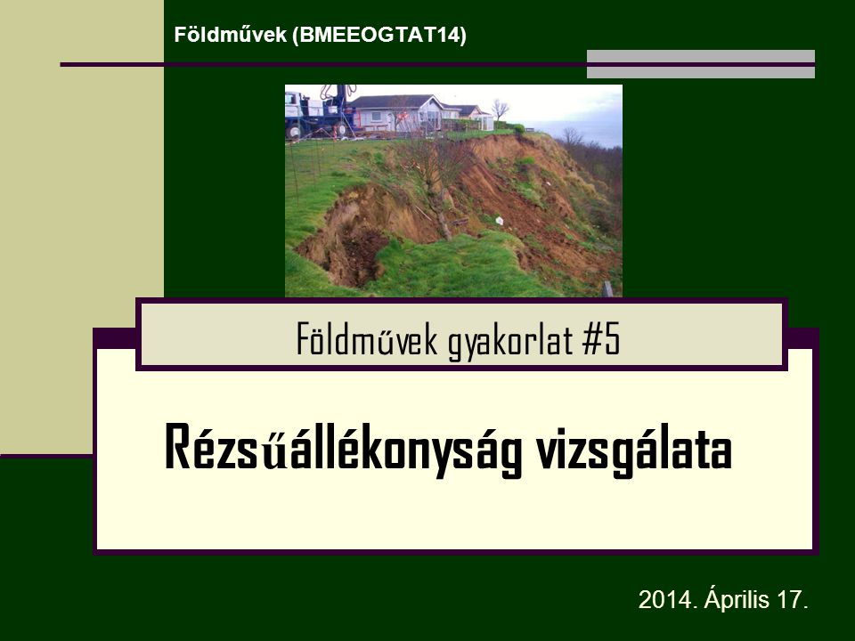 Földművek (BMEEOGTAT14)