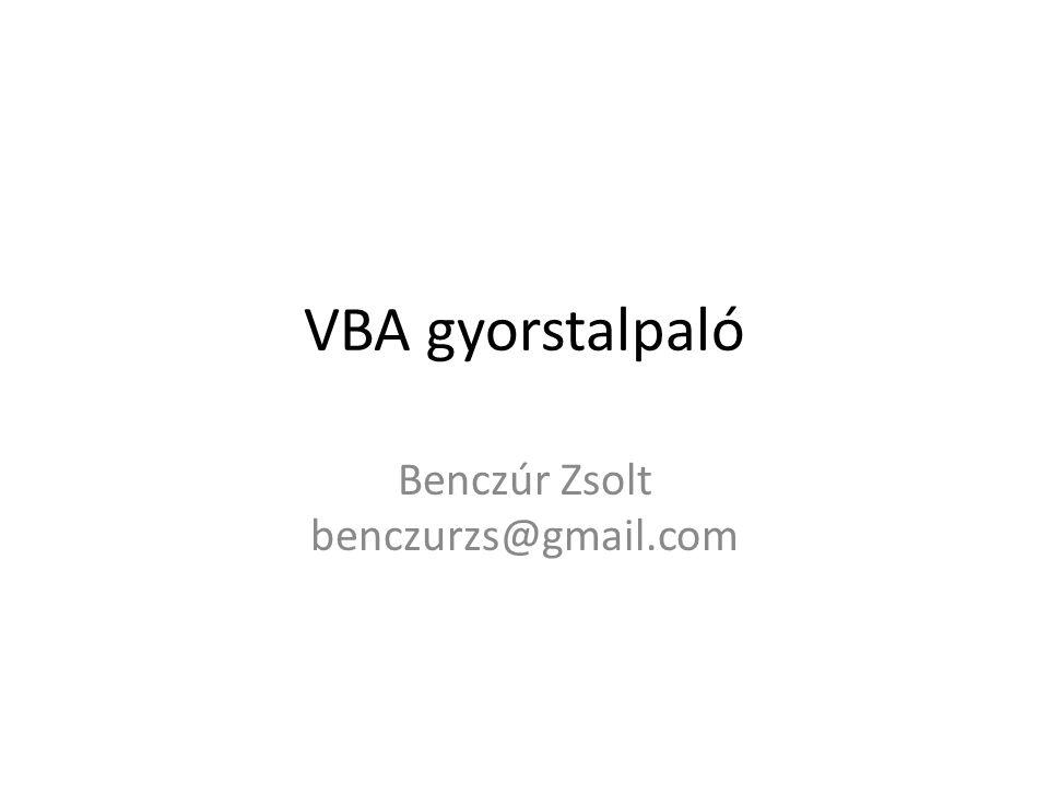 Benczúr Zsolt benczurzs@gmail.com
