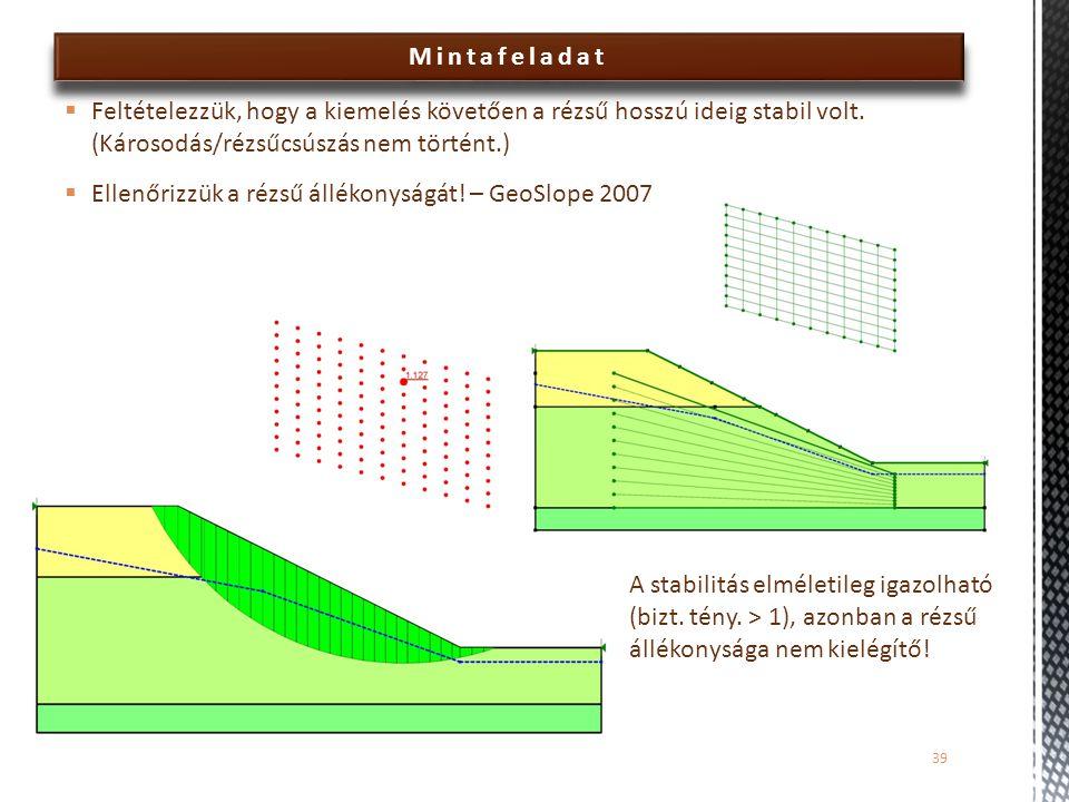 Ellenőrizzük a rézsű állékonyságát! – GeoSlope 2007