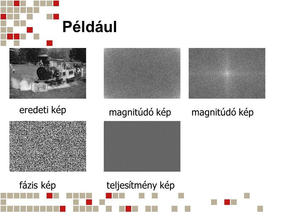 Például eredeti kép magnitúdó kép magnitúdó kép fázis kép