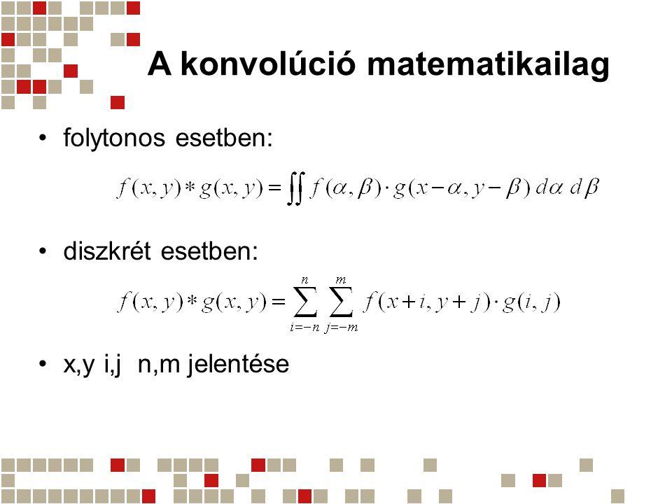A konvolúció matematikailag