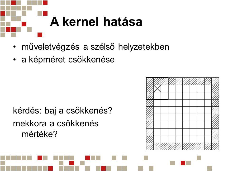 A kernel hatása műveletvégzés a szélső helyzetekben