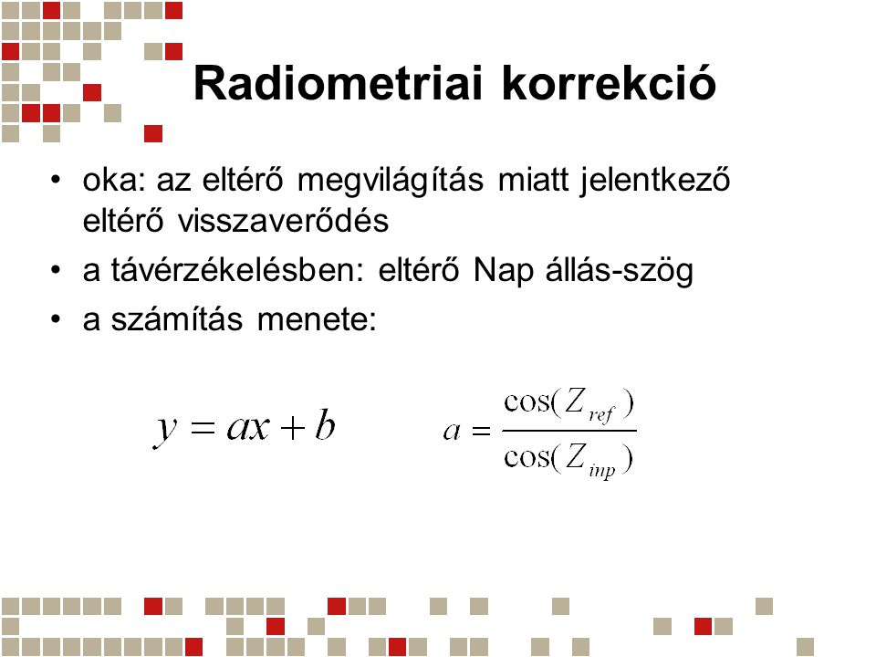 Radiometriai korrekció