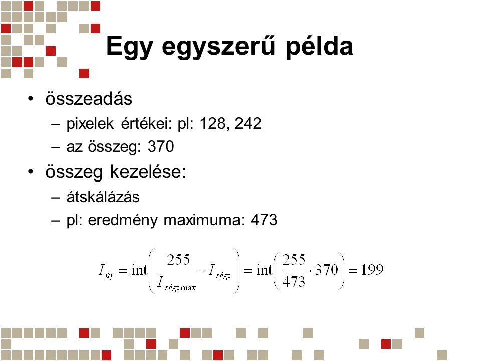 Egy egyszerű példa összeadás összeg kezelése:
