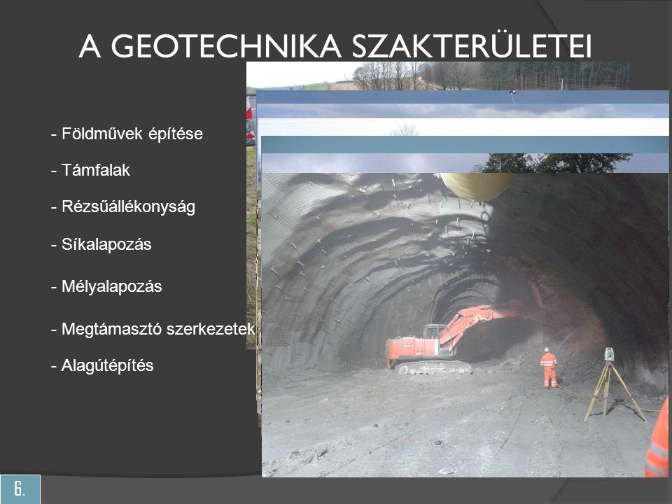 A geotechnika szakterületei