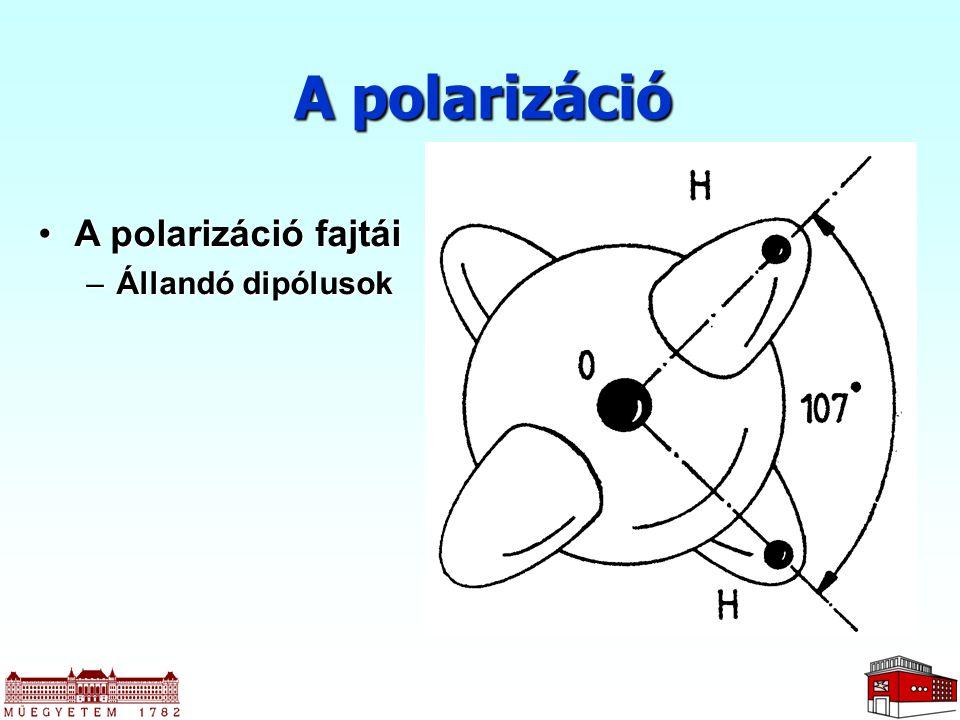A polarizáció A polarizáció fajtái Állandó dipólusok