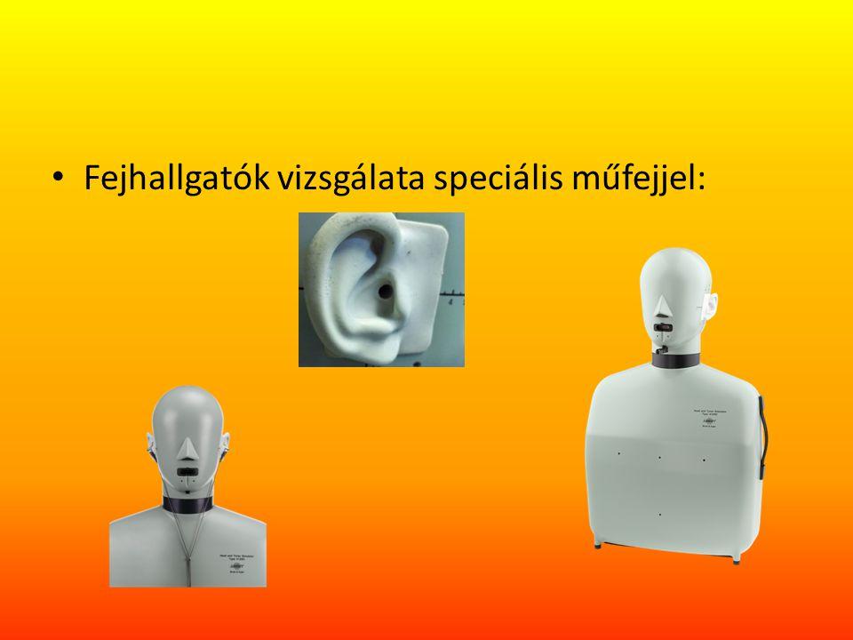 Fejhallgatók vizsgálata speciális műfejjel: