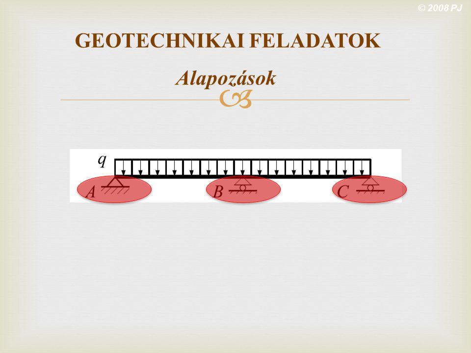 GEOTECHNIKAI FELADATOK