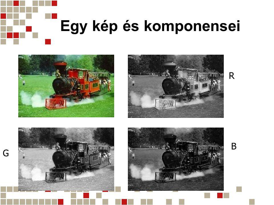 Egy kép és komponensei R B G