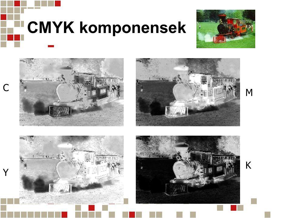 CMYK komponensek C M K Y