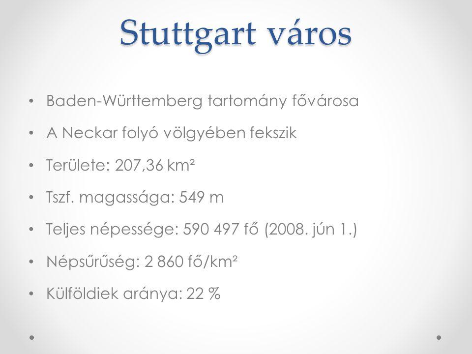 Stuttgart város Baden-Württemberg tartomány fővárosa