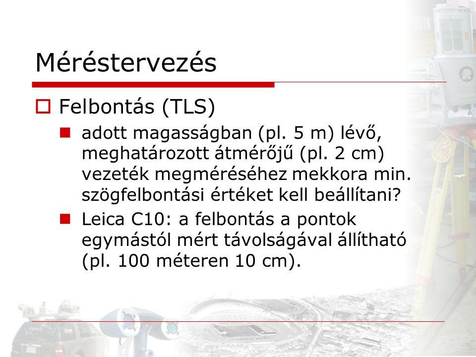 Méréstervezés Felbontás (TLS)