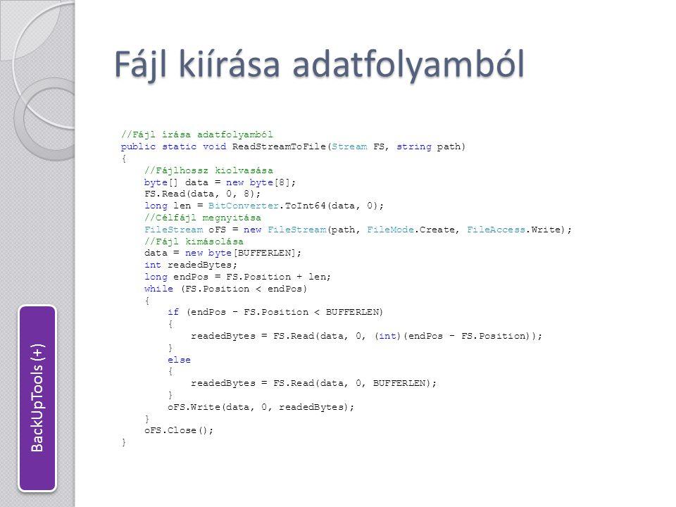 Fájl kiírása adatfolyamból