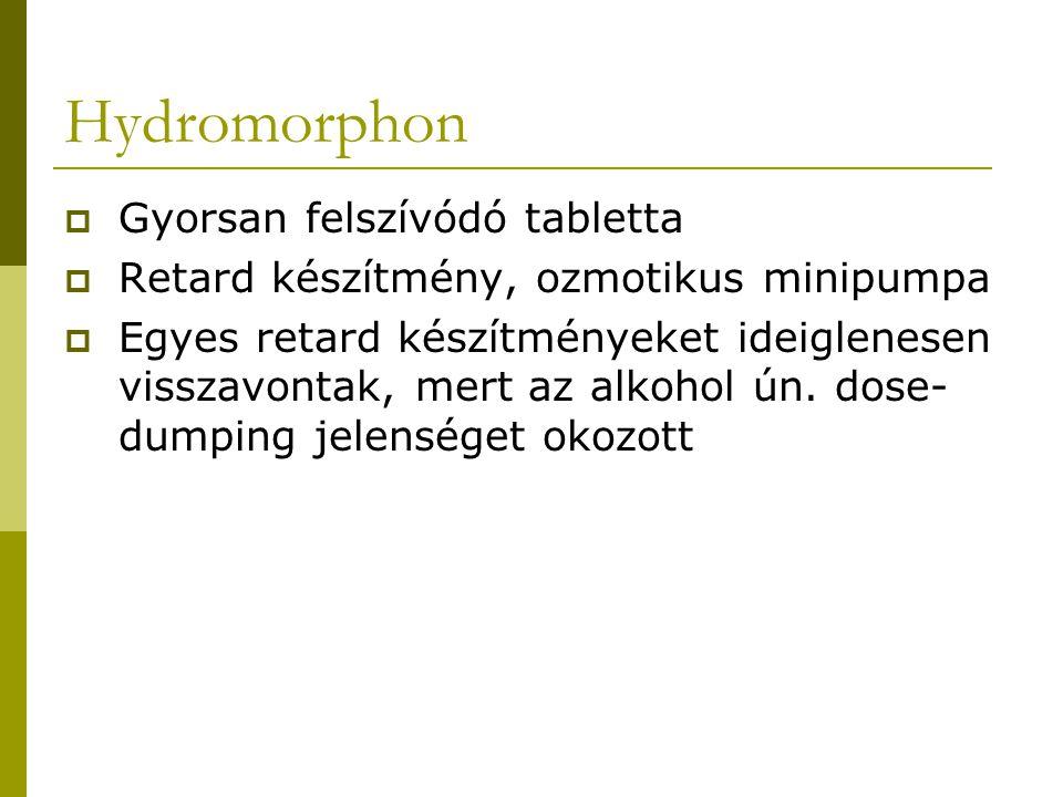Hydromorphon Gyorsan felszívódó tabletta