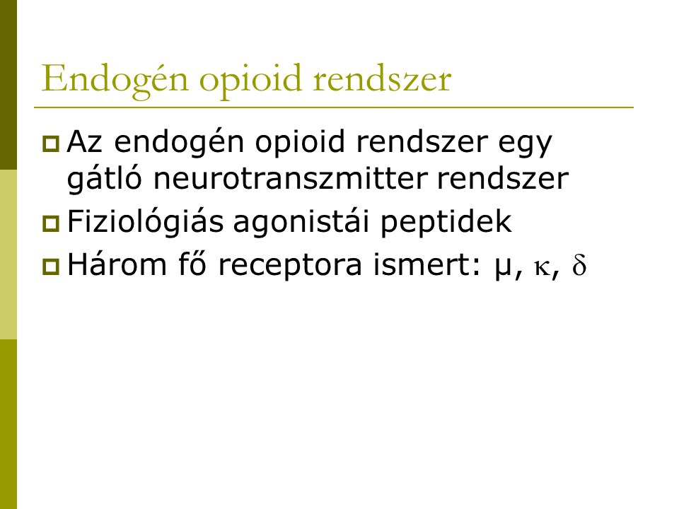 Endogén opioid rendszer