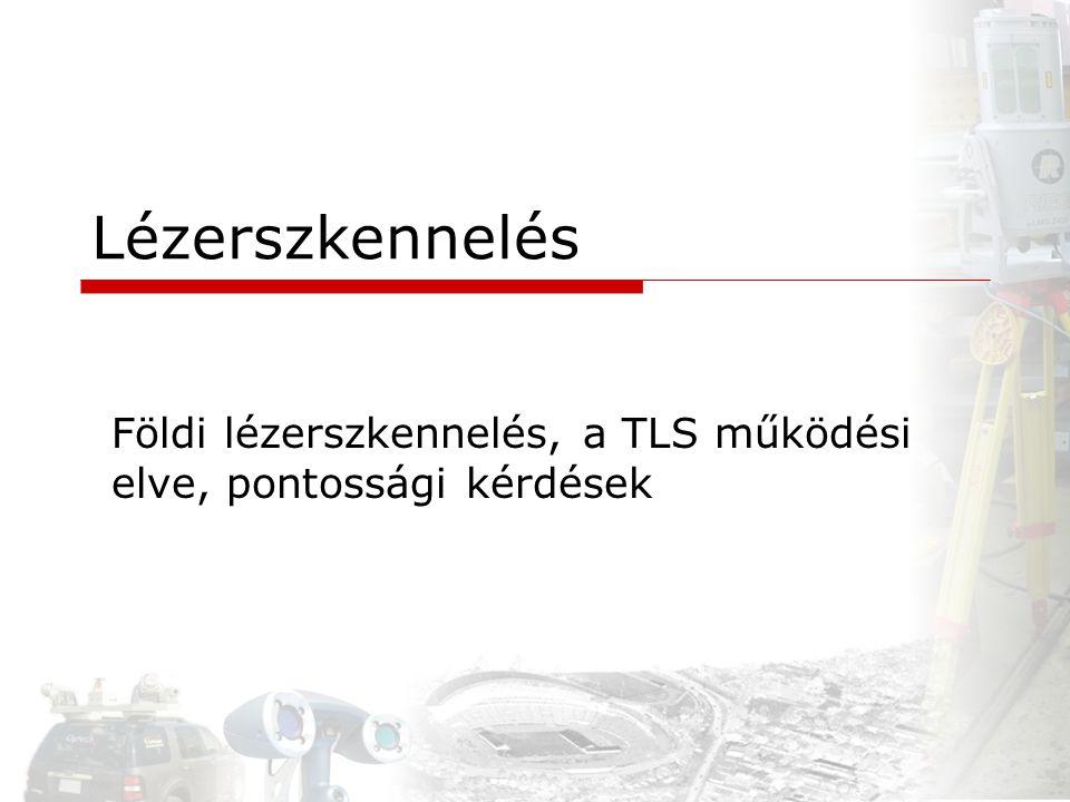 Földi lézerszkennelés, a TLS működési elve, pontossági kérdések