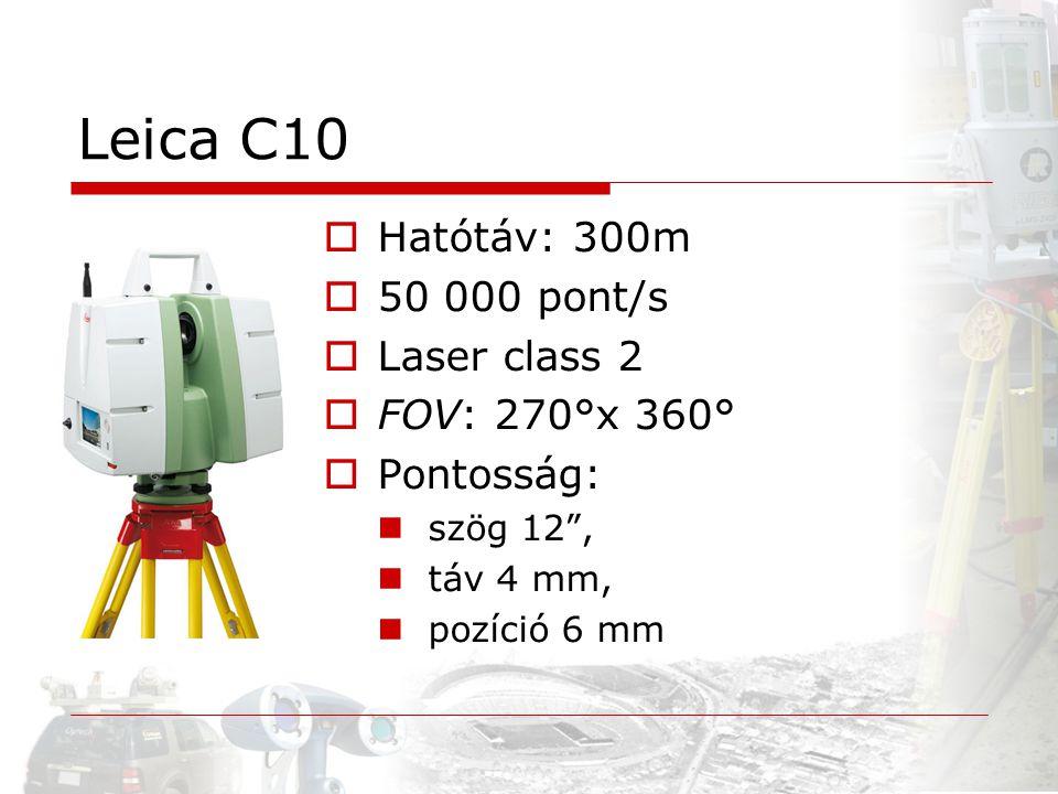 Leica C10 Hatótáv: 300m 50 000 pont/s Laser class 2 FOV: 270°x 360°
