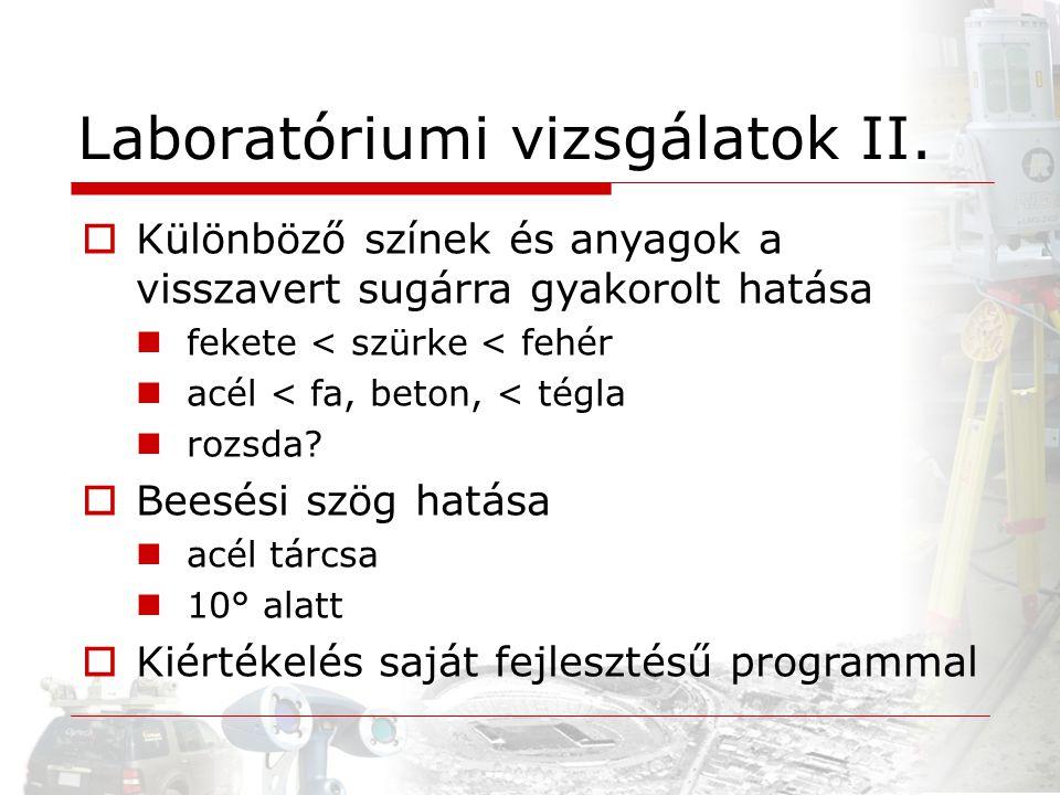 Laboratóriumi vizsgálatok II.
