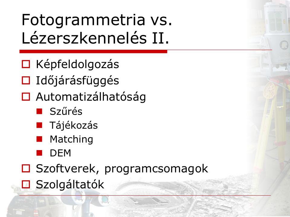 Fotogrammetria vs. Lézerszkennelés II.