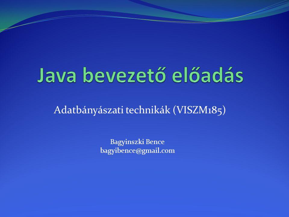 Adatbányászati technikák (VISZM185)