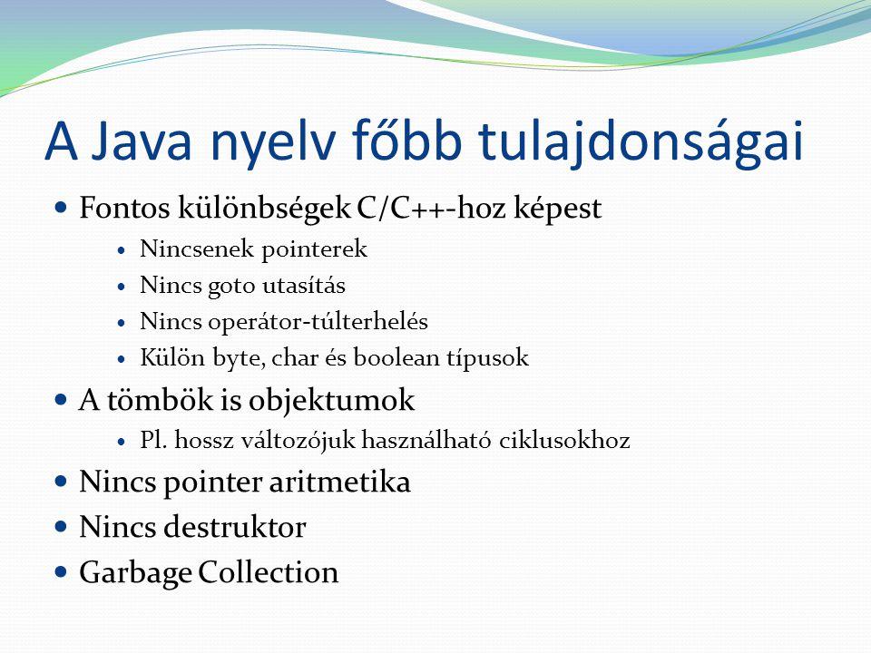 A Java nyelv főbb tulajdonságai