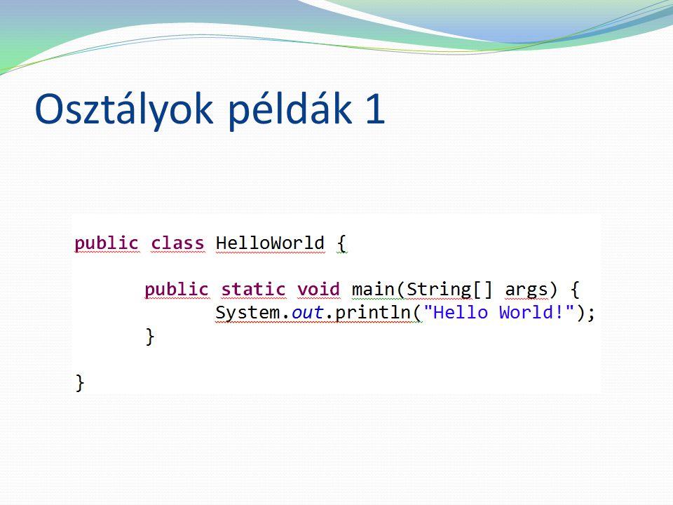 Osztályok példák 1
